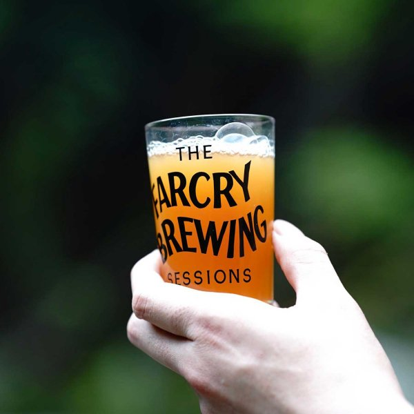 FARCRY BREWING SESSIONS BEER GLASS Tacoma Fuji ver. designed by Letter Boy