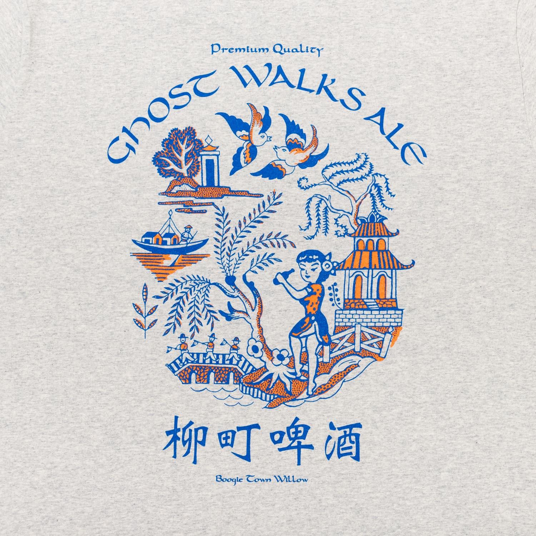 GHOST WALKS ALE Tee designed by Jerry UKAI