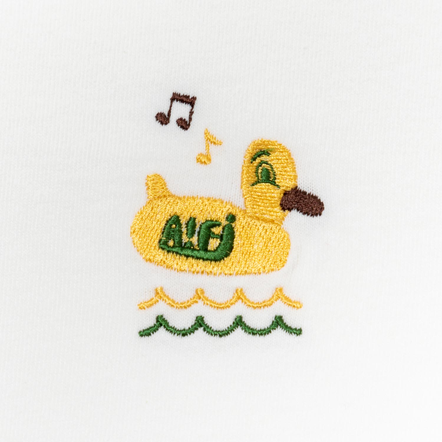 Duck Float Embroidery Tee designed by Jerry UKAI