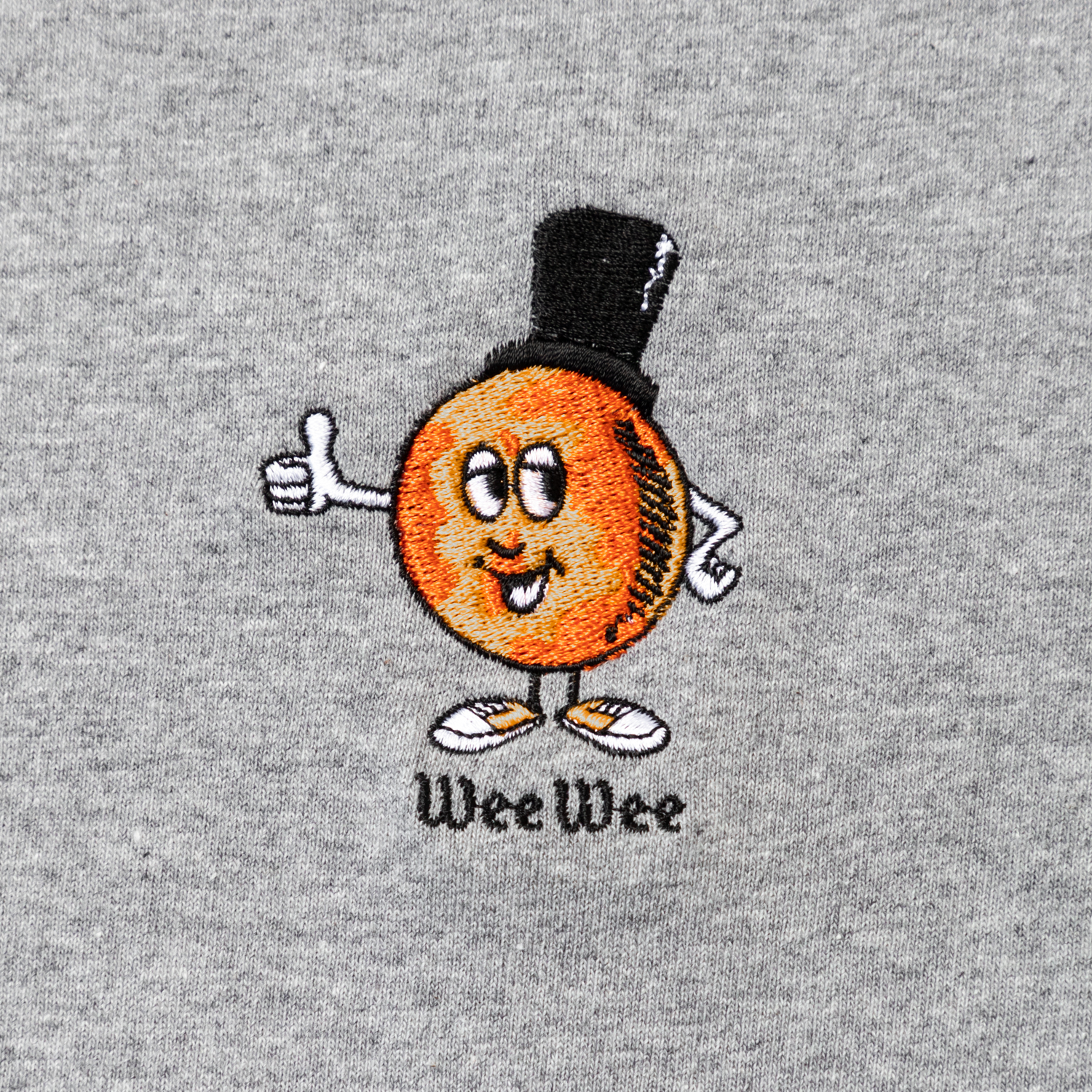 WEE WEE embroidery Tee designed by Jerry UKAI